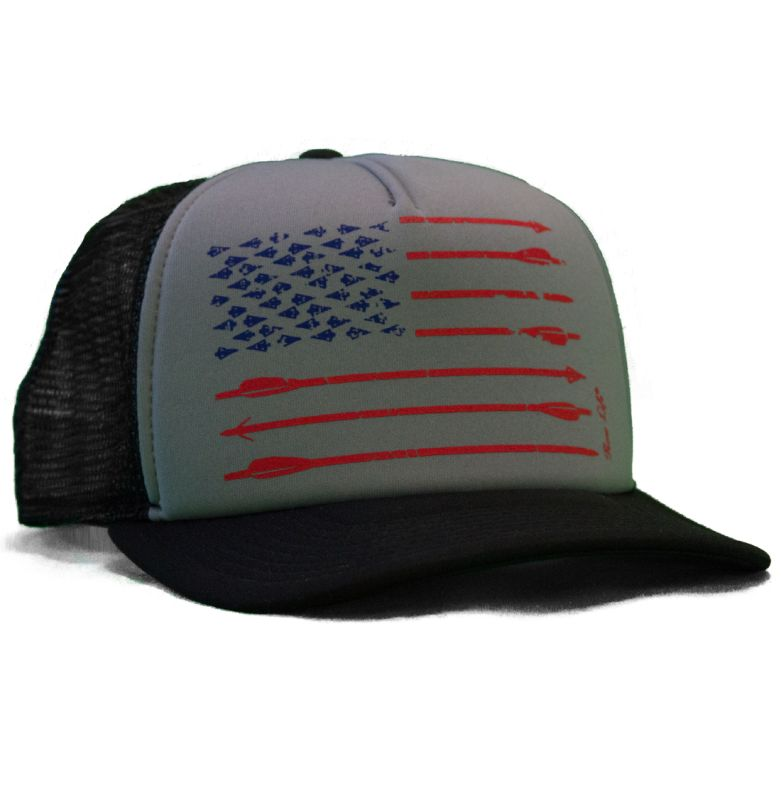 3ef0f6f3 Bow Hunting Hats | Bow Life American Archer Gray Trucker Hat | Bowhunting  Hats | Archery