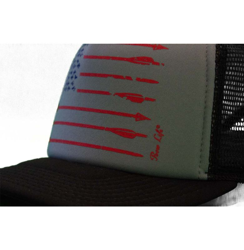 c9c8f095 Bowhunting Hats | Bow Life American Archer Gray Foam Trucker Hat |  Bowhunting Hats | Archery